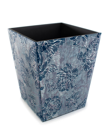 MacKenzie-Childs Royal Rose Wastebasket