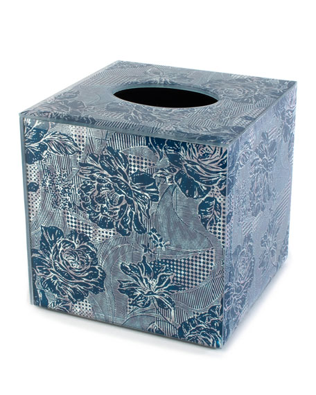 MacKenzie-Childs Royal Rose Boutique Tissue Box Cover