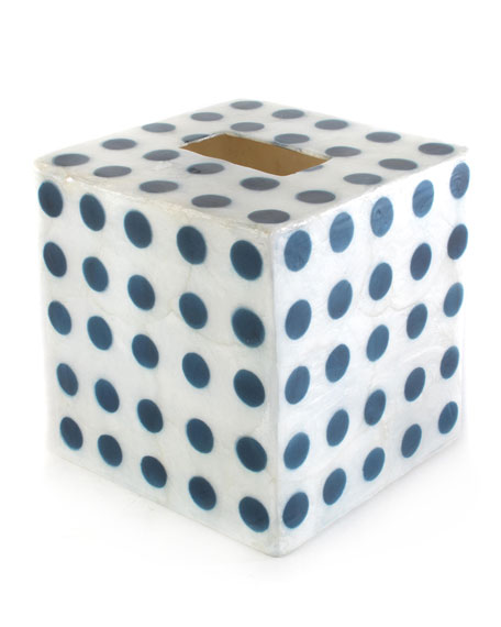 MacKenzie-Childs Royal Dot Boutique Tissue Box Cover
