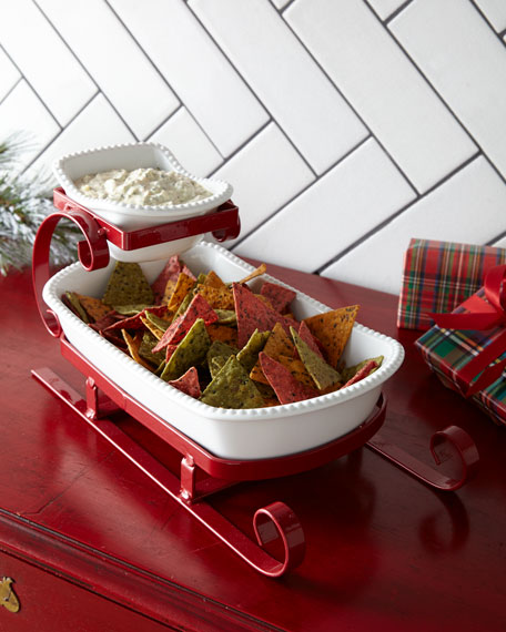Godinger Sleigh Chip and Dip Server