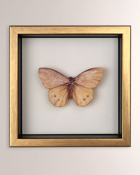 Champagne Framed Butterfly Sculpture