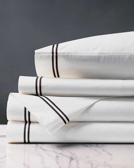 Eastern Accents Enzo White/Black Queen Sheet Set