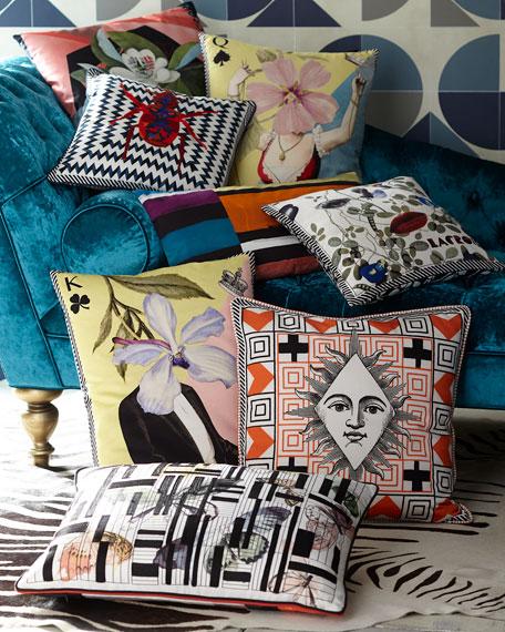 Cubic Orchid Multicolor Pillow