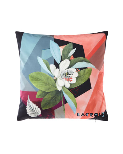 Cubic Orchid Multicolor Pillow