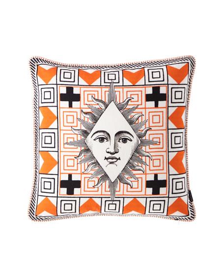Poker Face Multicolor Pillow