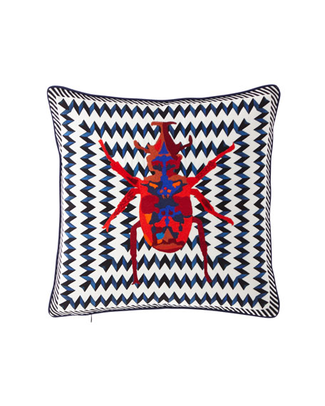 Beetle Waves Oeillet Pillow