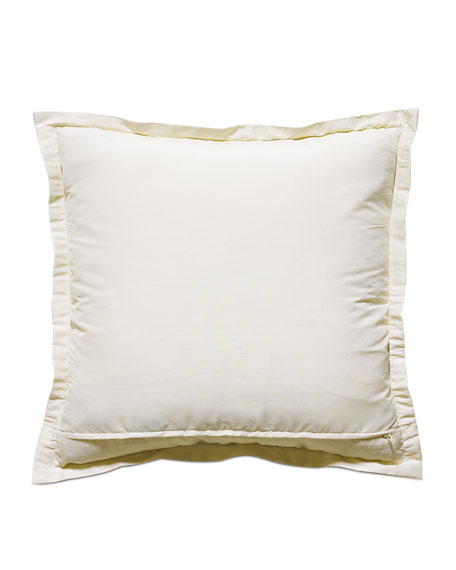 Edris Ivory Decorative Pillow w/ Sequin Border