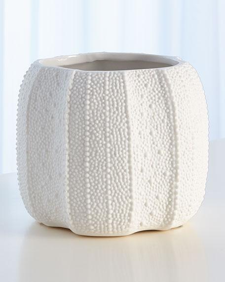 Global Views Urchin Short Bisque White Vase