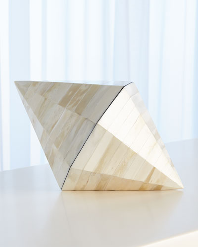 Triangle Cone White Bone Box