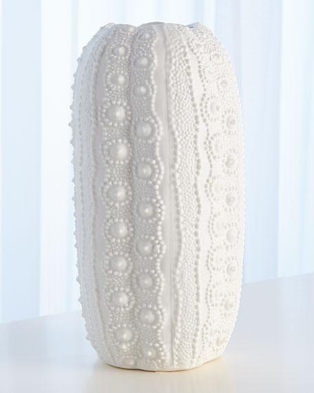 Urchin Bisque White Tall Vase