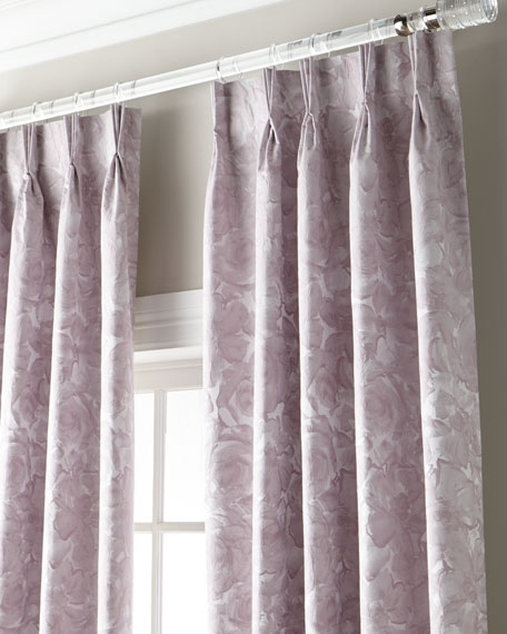 """Kinley 3-Fold Pinch Pleat Curtain with Blackout Lining, 108"""""""