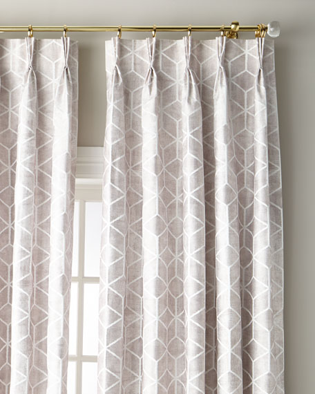 """Myka 3-Fold Pinch Pleat Curtain with Blackout Lining, 132"""""""