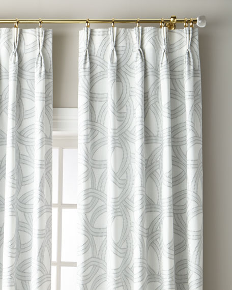 """Jamison 3-Fold Pinch Pleat Curtain with Blackout Lining, 132"""""""