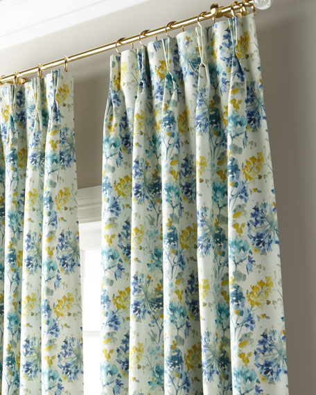 """Rhys 3-Fold Pinch Pleat Curtain with Blackout Lining, 132"""""""