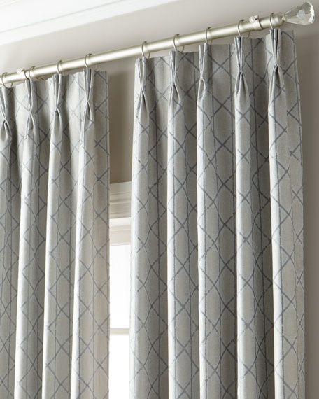 """Mariana 3-Fold Pinch Pleat Curtain with Blackout Lining, 108"""""""