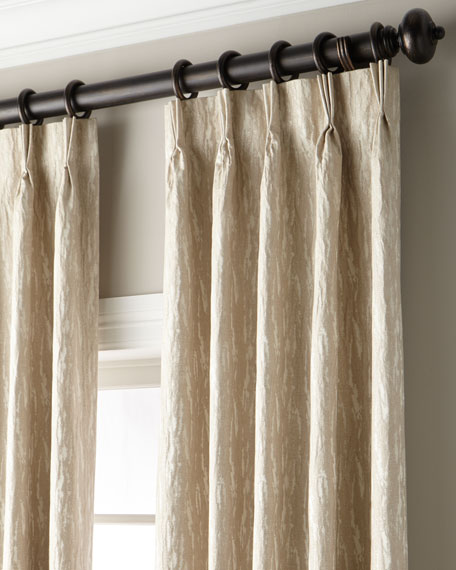 Anissa Shimmer 3-Fold Pinch-Pleat Curtain with Blackout Lining, 120