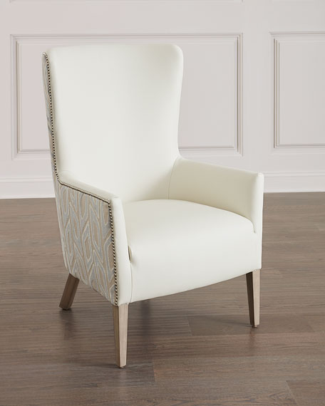 Broussard Leather Wing Chair