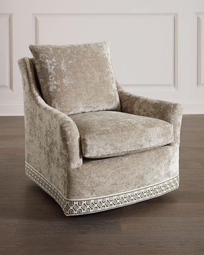 Catahoula Crushed Velvet Swivel Chair