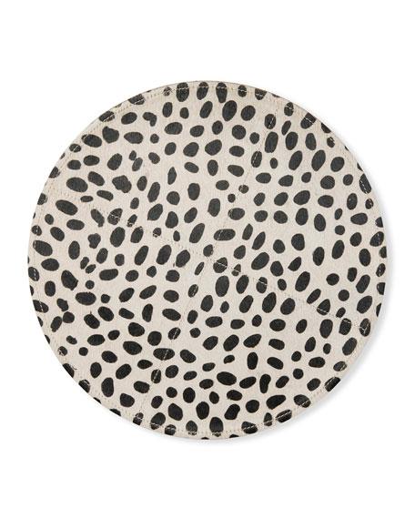Harper Round Dalmatian Print Chargers, Set of 2