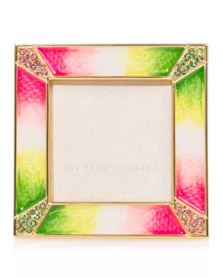 Jay Strongwater Pave Corner Picture Frame, 2