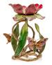 "Floral 9"" Pillar Candle Holder"