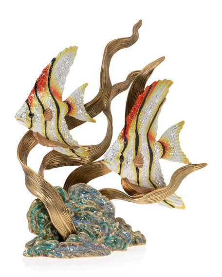 Jay Strongwater Angel Fish & Seagrass Figurine