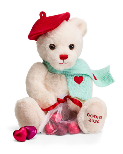 Limited Edition Valentines Day Plush Teddy Bear with Chocolate Foil Hearts