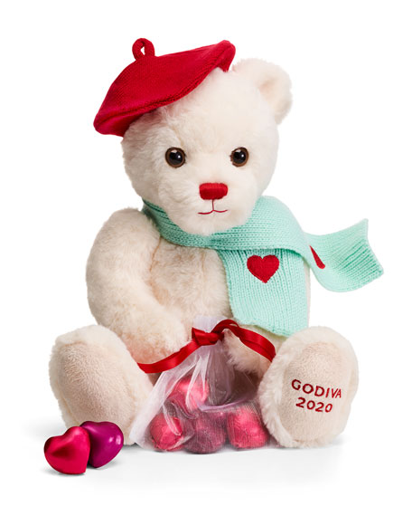 Godiva Chocolatier Limited Edition Valentines Day Plush Teddy