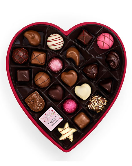 25-Piece Valentines Day Chocolate Gift Box in Fabric Heart