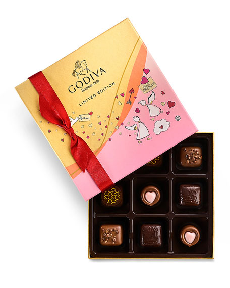 Godiva Chocolatier 9-Piece Valentine's Day Chocolate Gift Box