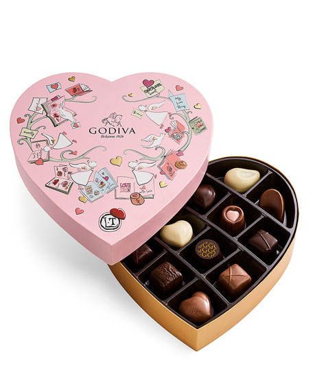 14-Piece Valentine's Day Chocolate Gift Box in Paper Heart