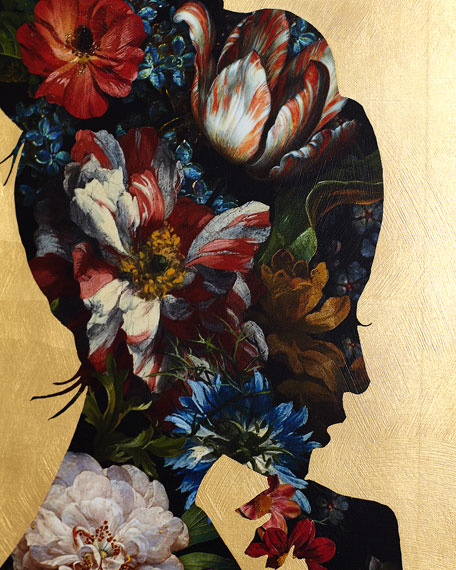 """""""Floral Reflection I"""" Giclee Wall Art"""