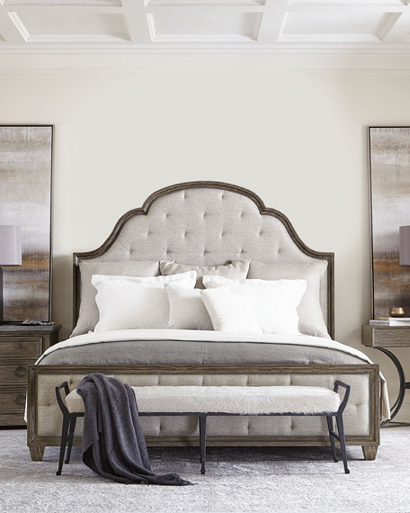 Bernhardt Canyon Ridge Upholstered Tufted California King Bed