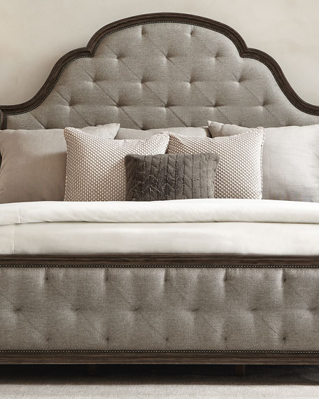 Canyon Ridge Upholstered Tufted King Bed