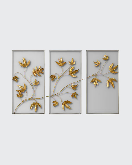 John-Richard Collection Falling Leaves Tryptic