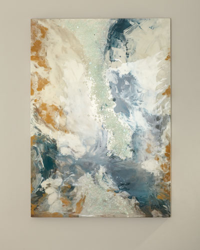 Blue Gale Canvas Art by Mary Hong
