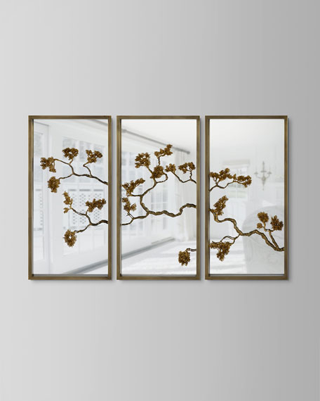 John-Richard Collection Organic Branches Triptych