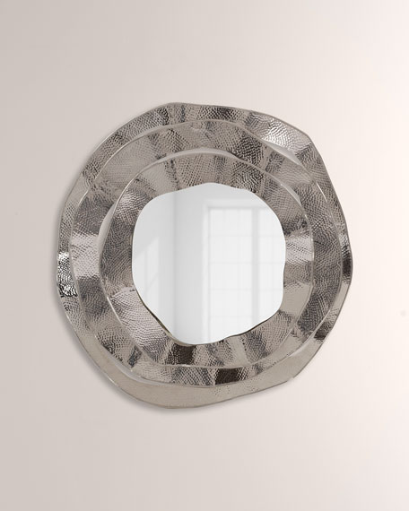 John-Richard Collection Ripple Brass Mirror