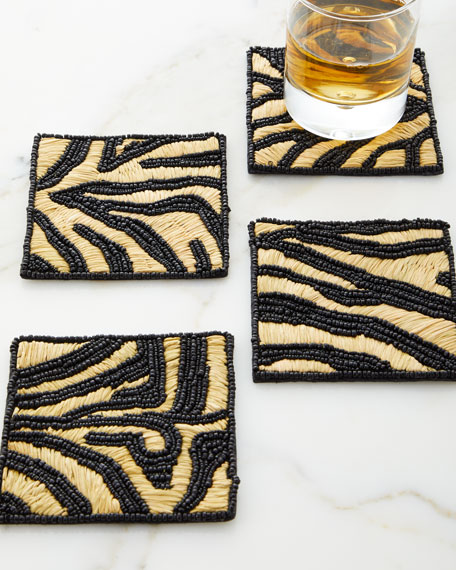 Kim Seybert Serengeti Coasters, Set of 4