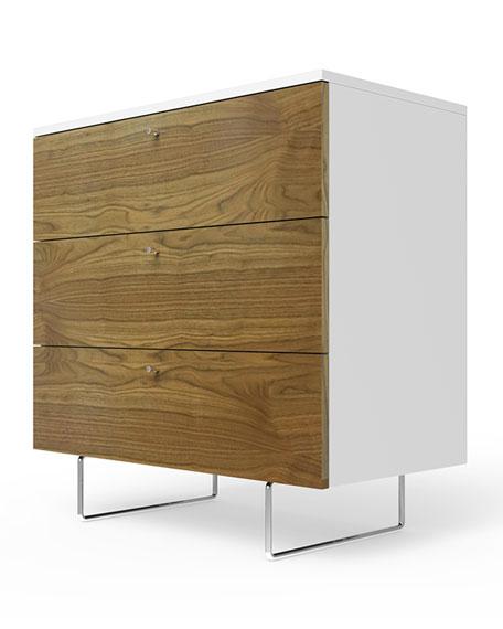 "34"" Alto Dresser, White/Walnut"