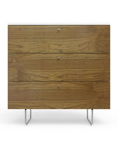 34 Alto Dresser  White/Walnut