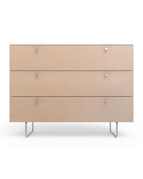"""45"""" Alto Dresser, White/Birch"""