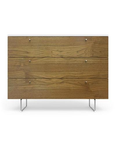 45 Alto Dresser  White/Walnut