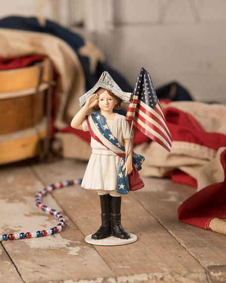 Stars & Stripes Girl Figurine