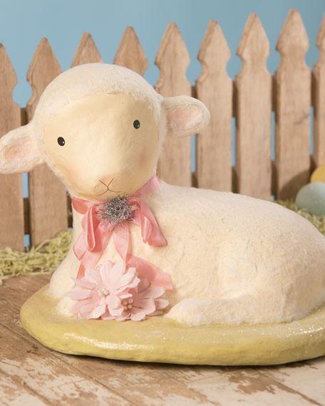 Large Paper Mache Precious Lamb