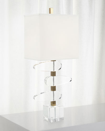 Asymmetrical Crystal Table Lamp