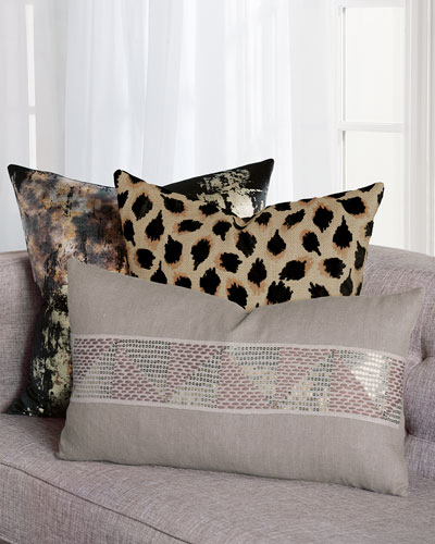 Pyrite Black Decorative Pillow