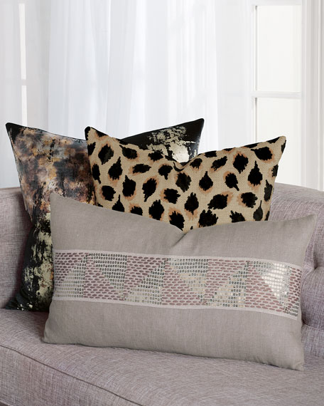 Eastern Accents Pyrite Black Decorative Pillow