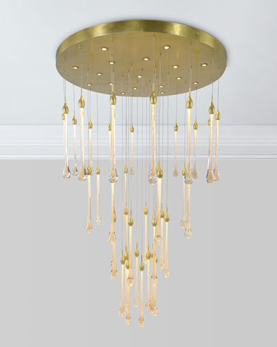 57-Light Crystal Drop Chandelier