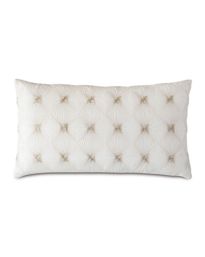 Tesseract Ivory Decorative Pillow